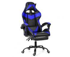 Bürostuhl Gaming Gamer Sessel ohne Fußschemel Blue Hasaki