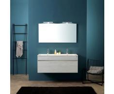 Moderne Badezimmermöbel In Grau 120 Cm Mit Doppelwaschbecken I Serie Sole