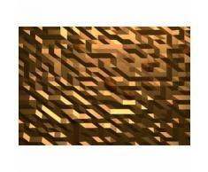 Papier Fototapete 3D Kristall Gold 368x254cm