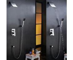 Unterputz Duschsystem Regendusche Duscharmatur Set mit Wasserfall Duschkopf Handbrause
