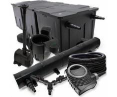 Wiltec - SunSun Filter Set 90000l Teich 72W Teichklärer NEO8000 70W Pumpe 25m Schlauch Skimmer