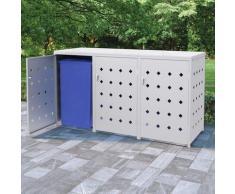 Hommoo Mülltonnenbox für 3 Tonnen 240 L Edelstahl VD35100