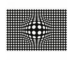 Papier Fototapete Punkte schwarz und weiß invertiert 368x254cm