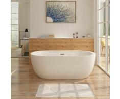 Freistehende Badewanne FRISANGE Design - aus Acryl in Weiß 170x80 cm