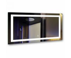Spiegel mit Beleuchtung Badspiegel 100x60CM LED Spiegelleuchte 6000K Weiß 25W 5000LM [Energieklasse