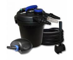 Wiltec - SunSun Druckteichfilter Set für 10000l mit 11W UVC und 20W ECO Pumpe 25m Schlauch