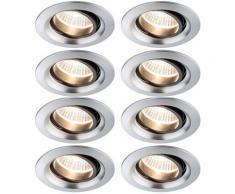 4 x Paulmann 926.77 Einbauleuchten Daz LED Set 2x7W schwenkbar Alu inkl. LED