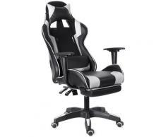 Bürostuhl Gaming Chair Ergonomisches Spiel Liegen 155 ° Weiß Hasaki