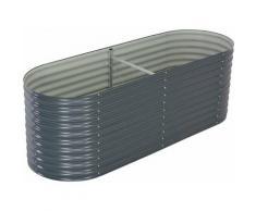Zqyrlar - Garten-Hochbeet 240 x 80 x 81 cm Verzinkter Stahl Grau