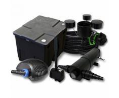 Filter Set 12000l Teich,18W Teichklärer,CTF ECO 20W Pumpe 25m Schlauch Skimmer CSP250 Springbrunnen