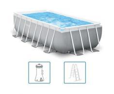 Swimmingpool-Set Prism Frame Rechteckig 400 x 200 x 100 cm - Intex