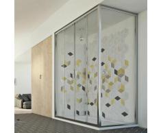 Young Duo 2 Türen Duschkabine 130x80 CM H198 ESG-Klarglas