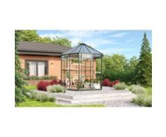 Vitavia Gewächshaus-Pavillon 'Juno 4500' inkl. Stahlfundament smaragd grün 11,5 m² 3 mm ESG, 6 mm