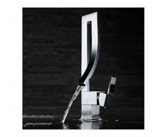 Waschtisch-Armatur massiv, modernes Design, verchromt
