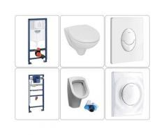 Bäder Boutique - Wand WC mit SoftClose TakeOff WC-Sitz und Urinal mit Zulauf von hinten & Grohe