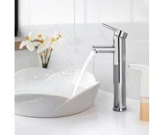 Einhebel-Waschtischmischer, Wasserhahn Bad Hoch, Mischbatterie für Badarmatur Waschtischarmatur