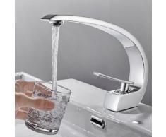 AuraLum Wasserhahn Bad Waschtischarmatur Badarmatur Schwarz Armatur Waschbecken Mischbatterie