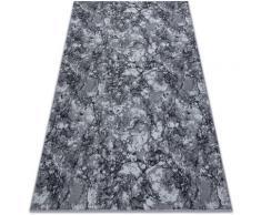 Rugsx - Antirutsch Teppich Teppichboden MARBLE Marmor Stein grau Grau und Silbertönen 200x400 cm