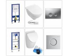 Geberit - Villeroy & Boch O.Novo Urinalbecken & Wand-WC mit Deckel CPlus + Zubehör
