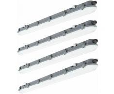 4er Set LED Decken Wannenleuchte Lampe Länge 120cm 4000 Kelvin, 4320 Lumen Feucht- und