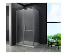 Duschkabine CERRA-FROST 100 x 80 x 195 cm ohne Duschtasse