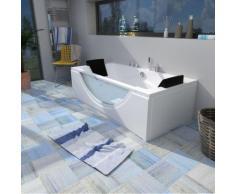 Whirlpool Pool Badewanne Eckwanne Wanne A1821H-B-ALL 180x90cm Reinigungsfunktion -16042- ohne