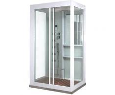 Dampfdusche White Luxory XL | Duschkabine, Duschtempel, Regendusche, Komplettdusche - Home Deluxe