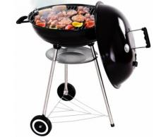COSTWAY Kugelgrill BBQ Grill Holzkohlegrill Grillwagen Standgrill Kohlegrill ? 57cm mit Thermometer