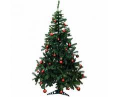Künstlicher Weihnachtsbaum inklusive 70er Baumkugel-Set in Rot Tannenbaum mit Christbaumständer