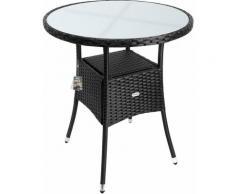 Polyrattan Tisch rund - Ø 60cm - schwarz