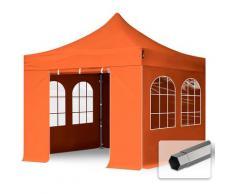 Faltzelt Partyzelt 3x3m - mit Fenstern PROFESSIONAL Dach 100% WASSERDICHT Faltpavillon Pavillon