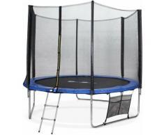 305 cm Trampolin - Mars XXL Blau - mit Schutznetz, Leiter, Plane, Schuhnetz, Ankersatz, 305 cm