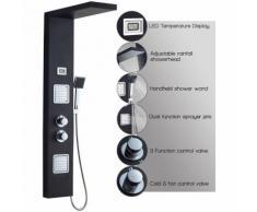 Thermostat Duschpaneel aus Edelstahl SUS304 LCD Wassertemperatur Digitalanzeige Brausepaneel