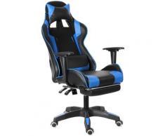Bürostuhl Spielstuhl Ergonomisch 155 ° Liegespiel Blau (Verbesserte Version)