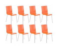 8er Set Besucherstuhl Pepe-orange