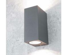 Licht-erlebnisse - Außenleuchte Up Down Strahler Anthrazit Spot AALBORG