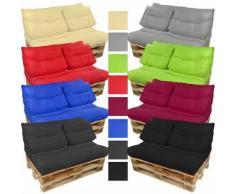 Palettenkissen Lounge: wasserabweisende Outdoor Sitzauflagen:Schwarz, Sitzkissen