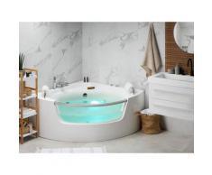 Eckbadewanne Whirlpool LED mit 7 Farben Sanitäracryl Mangle