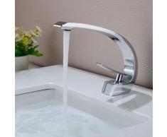 Auralum Waschtischarmatur in Chrom | Bad Armatur Einhebelmischer Mischbatterie Waschbeckenarmatur
