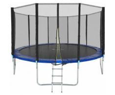 Trampolin Garfunky - Fitness Trampolin, Gartentrampolin, Kindertrampolin - 457 cm - schwarz/blau