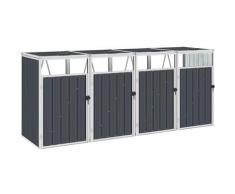 Youthup - Mülltonnenbox für 4 Mülltonnen Anthrazit 286×81×121 cm Stahl