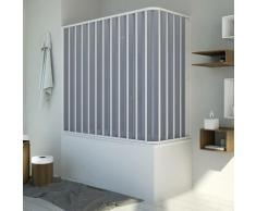 Badewannenaufsatz Duschkabine in PVC 150x70 CM H150 mod. Santorini Seitlich