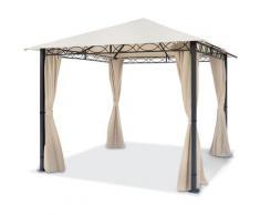 Gartenpavillon ca. 3x3 m wasserdicht PREMIUM Pavillon mit 4 Seitenteilen Gartenzelt ca. 220g/m²