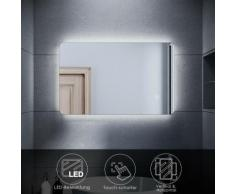 SONNI LED BadSpiegel Bad Badezimmer Wandspiegel Spiegel mit LED-Beleuchtung 80x50cm
