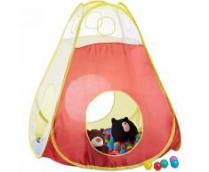 Relaxdays Bällebad Zelt mit 100 bunten Bällen, Pop Up Spielzelt als Bällepool für Kinder ab 3, HxB: