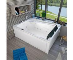 Whirlpool Vollausstattung Pool Eckwanne Wanne A612H-A Reinigungsfunktion 135x180 -13404- mit