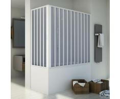 Badewannenaufsatz Duschkabine in PVC 140x70 CM H150 mod. Santorini Zentral