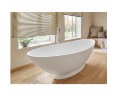 Freistehende Badewanne Como aus Mineralguss von Bädermax