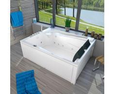 Whirlpool Pool Badewanne Eckwanne Wanne A612H-B Reinigungsfunktion 180x135 -13408- mit