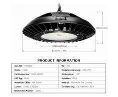LED Industrielampe Werkstattlampe Hallenstrahler (100W, 5 Stück)